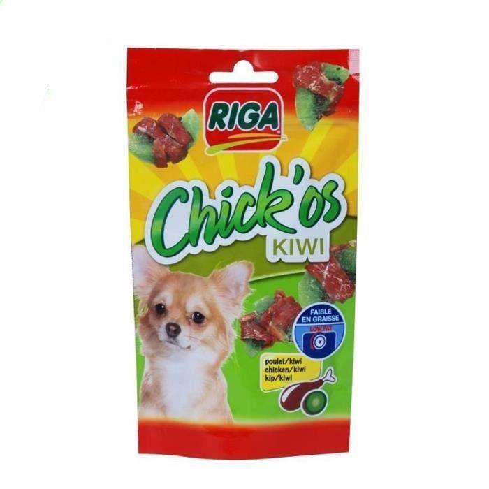 RIGA Chick'os kiwi pour chien 3 x 70g