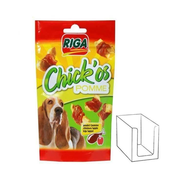 RIGA Chick'os pomme pour chien 3 x 70g