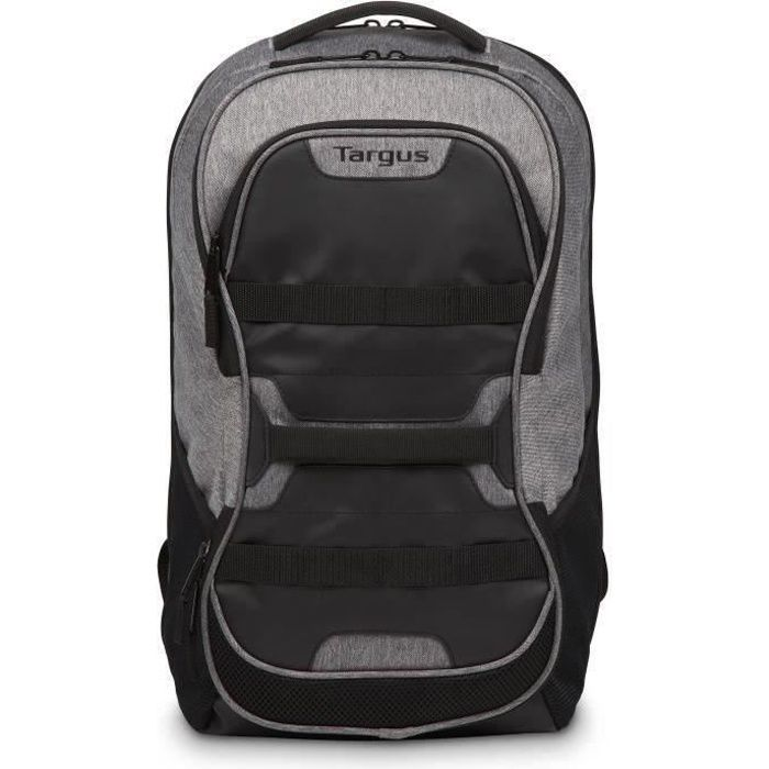 TARGUS Sac à Dos Work & Play - Multisports 15.6 - Gris - 27L - Compartiment amortisseur ordinateur portable et tablettes