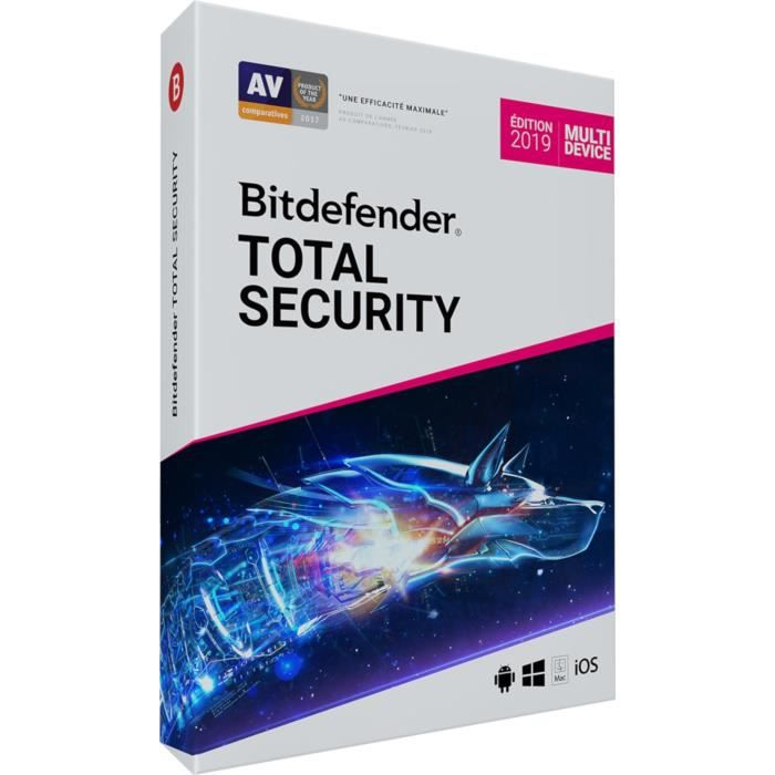 Bitdefender Total Security 2019 2 ans 10 appareils