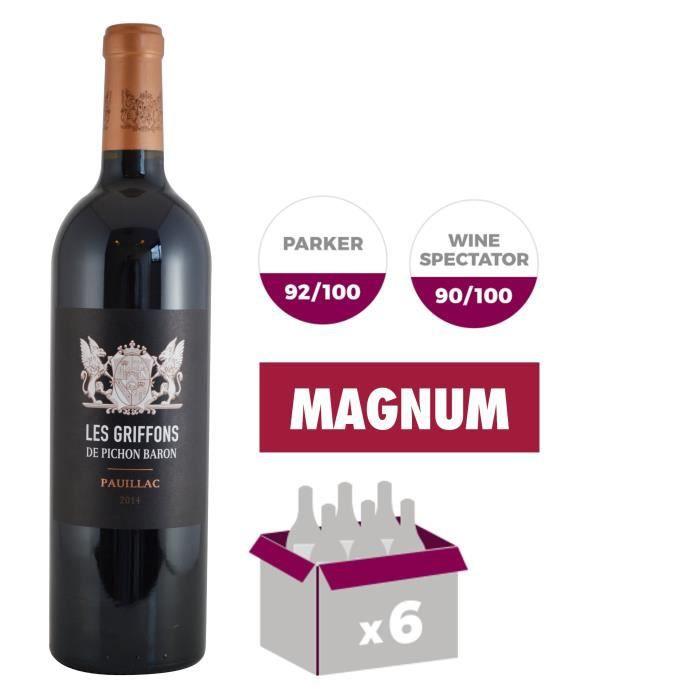 Magnum Griffons de Pichon Baron 2014 Pauillac Grand Cru - Vin rouge de Bordeaux