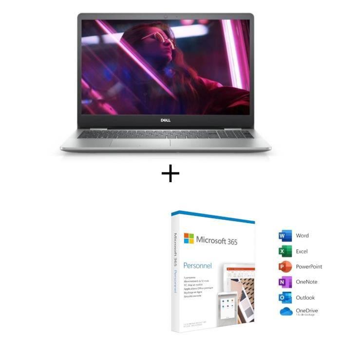 DELL PC Portable Inspiron 15 5593 - 15,6- FHD - Intel® Core™ i5-1035G1-RAM 8Go-Intel ICL-U UHD-Win10 + Microsoft 365 Personnel 1 an