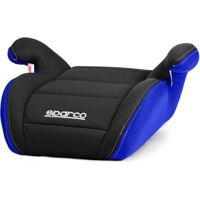 SPARCO réhausseur bas 00924NRAZ - Groupe 2 / 3 - 15 à 36 kg - Noir et Bleu