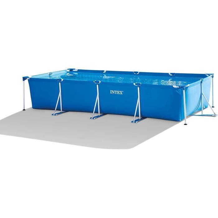 Kit piscine tubulaire INTEX Metal Frame Junior - Rectangulaire - L4,50 x l2,20 x h0,84 m