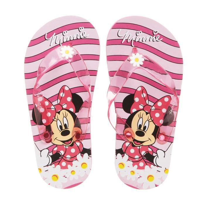 MINNIE Tongs Rose Enfant Fille