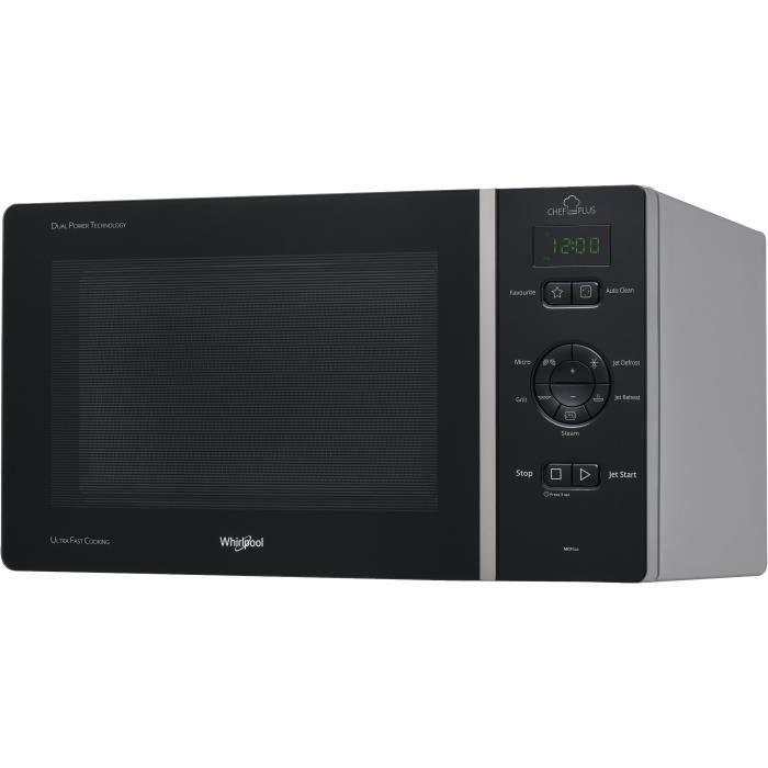 WHIRLPOOL MCP344SL-Micro-ondes grill-Silver-25L-800 W-Grill 800 W-Pose libre