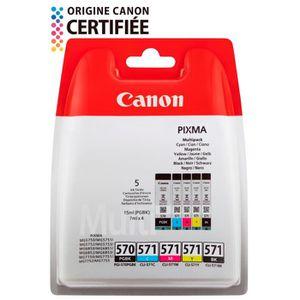 CARTOUCHE IMPRIMANTE Canon Pack de 4 Cartouches couleurs jet d'encre PG