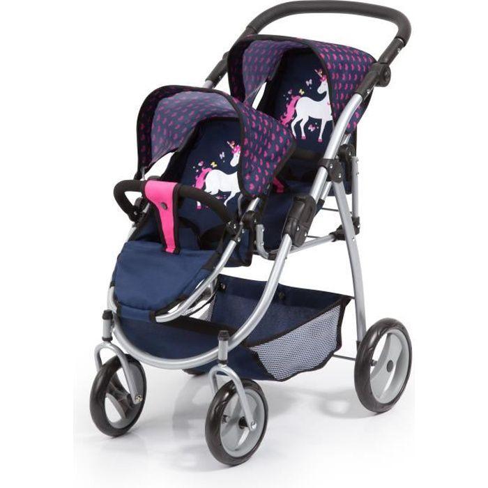 BAYER DESIGN La poupée-siège de voiture avec toit gris-rose