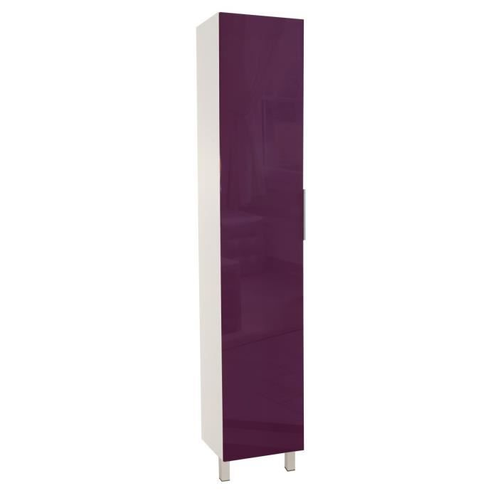 colonne de cuisine 40 cm aubergine haute brillance achat vente l ments colonne colonne. Black Bedroom Furniture Sets. Home Design Ideas