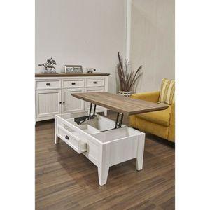 TABLE BASSE GLENVILLE Table basse style contemporain décor bla