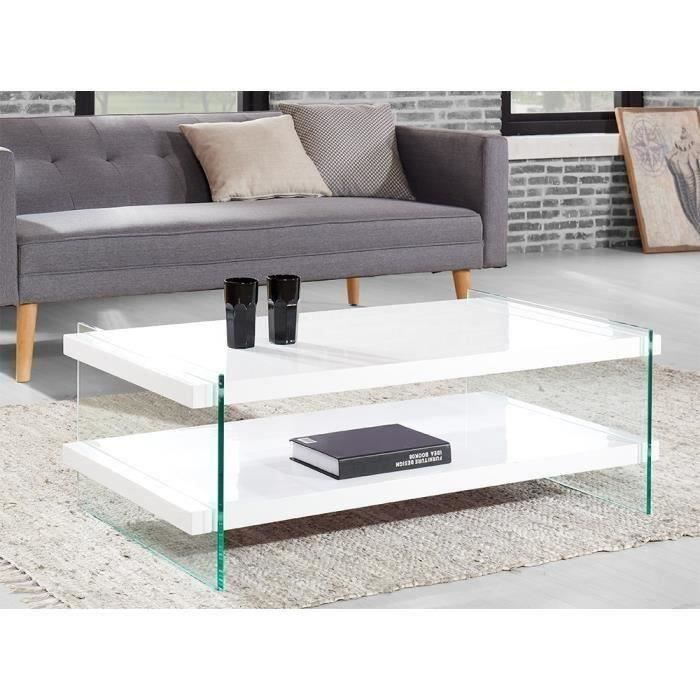 Crea table basse 110cm laqu blanc brillant achat - Table basse laque blanc brillant ...