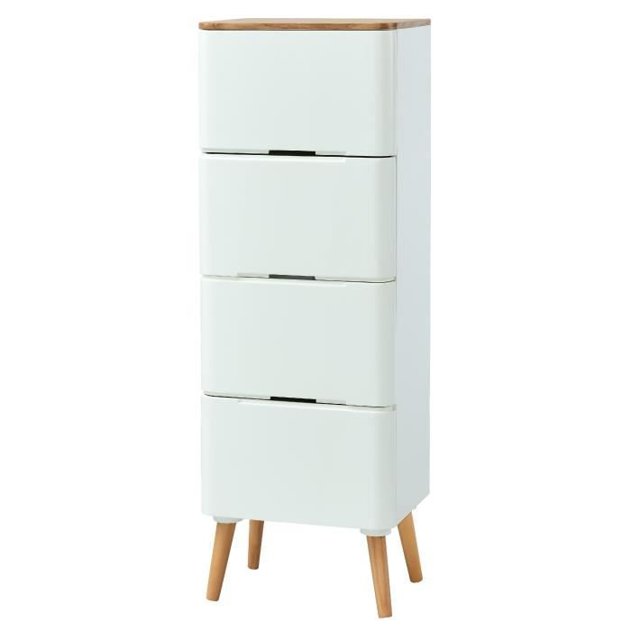 chiffonier blanc laque achat vente chiffonier blanc laque pas cher soldes d s le 10. Black Bedroom Furniture Sets. Home Design Ideas