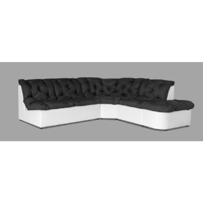 Canap d angle modulable 6 places noir - Canape d angle 6 places ...