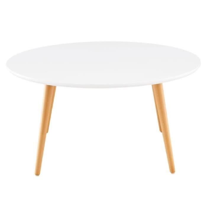 Stone04 table basse style scandinave en mdf laqu blanc - Table basse laque blanc brillant ...
