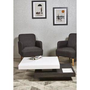 TABLE BASSE NAGA Table basse double plateau style contemporain
