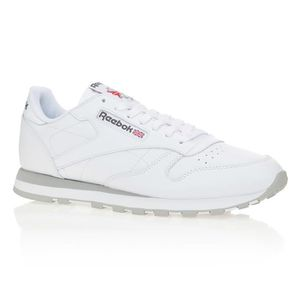 BASKET REEBOK Baskets Classic Leather - Homme - Blanc et