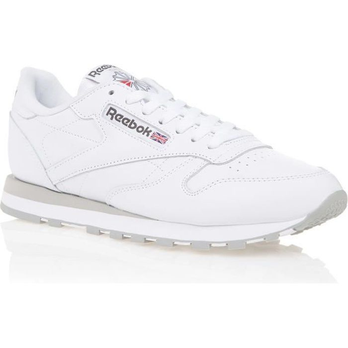 reebok classic leather chaussures homme homme blanc achat vente reebok classic leather homme. Black Bedroom Furniture Sets. Home Design Ideas