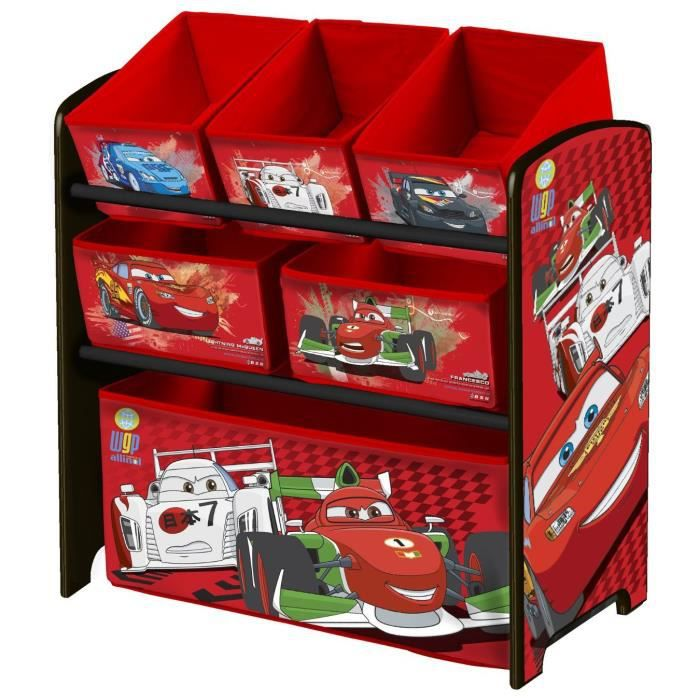 delta children cars meuble de rangement enfant jouets 6 bacs achat vente commode de chambre. Black Bedroom Furniture Sets. Home Design Ideas