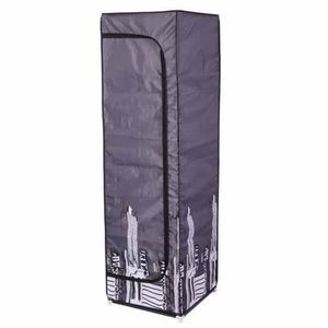 ARMOIRE DE CHAMBRE Armoire loft en polyester 160 cm noir