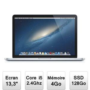 """Achat PC Portable Apple MacBook Pro 13"""" avec écran Retina (ME864F/A) pas cher"""