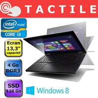 Ordinateur Portable LENOVO IDEAPAD YOGA13 MAM44FR GRIS INTEL CORE I3 3227U 1.9GHZ 4GO 128GO WIN8