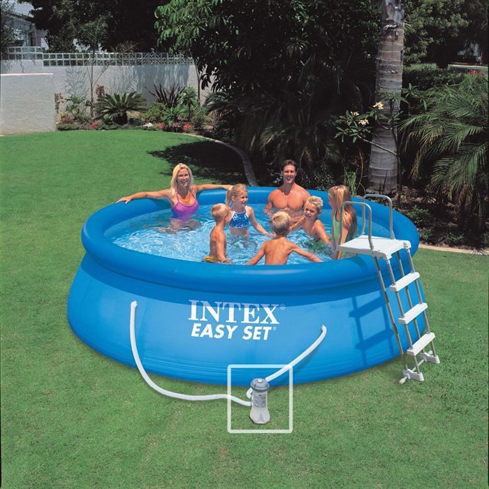 Intex kit piscine easy set 3 66m x h91 cm achat for Piscine coque polyester soldes