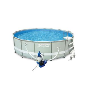 INTEX Ultra Frame Pool Set Piscine ronde tubulaire 4,88 x 1,22 m
