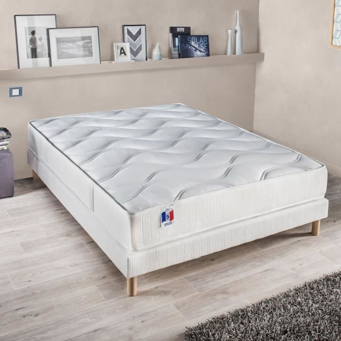 confort design ensemble matelas sommier gari 140x190 cm latex ferme 80 kg m3 2. Black Bedroom Furniture Sets. Home Design Ideas