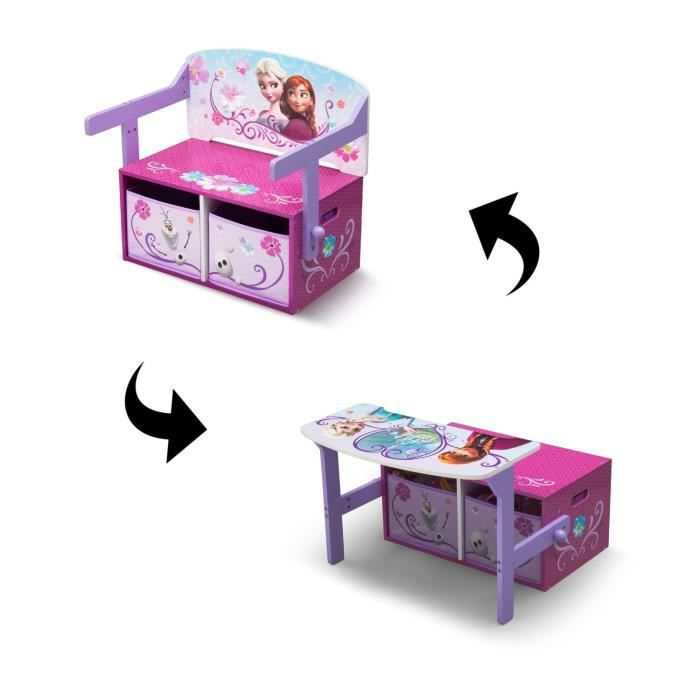 la reine des neiges bureau enfant en bois banc et pupitre. Black Bedroom Furniture Sets. Home Design Ideas