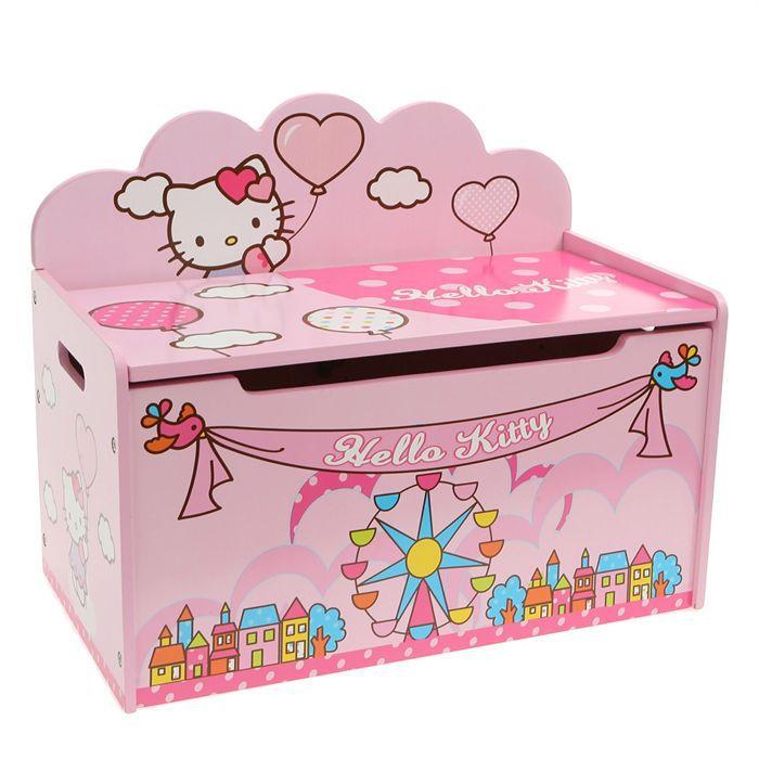Hello Kitty Coffre A Jouets Bois Achat Vente Coffre A Jouets 4003046031348 Cdiscount
