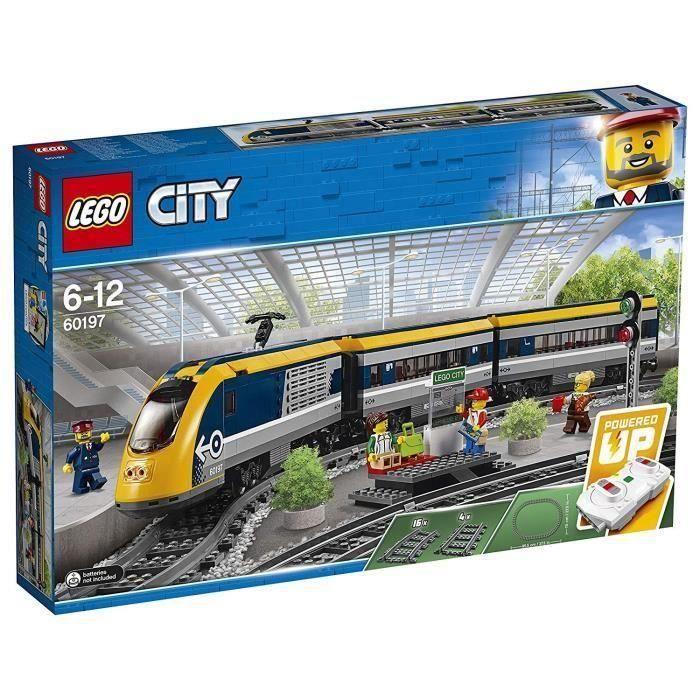 ASSEMBLAGE CONSTRUCTION LEGO® City 60197 Train de Passagers Télécommandé