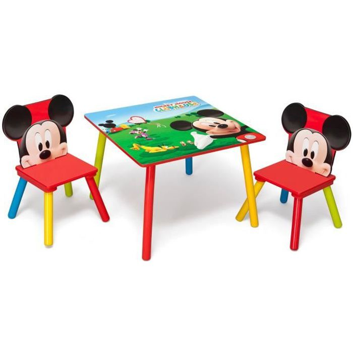 mickey table enfant et 2 chaises achat vente table. Black Bedroom Furniture Sets. Home Design Ideas