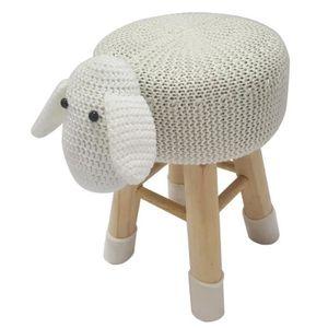 POUF - POIRE MOUTON Pouf enfant tissu crochet blanc – Pieds en