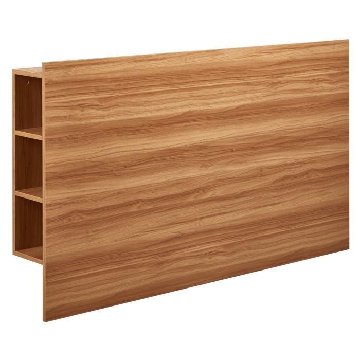 DESCARTE Tête de lit classique - Décor chêne naturel - L 160 cm