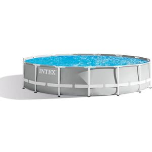 PISCINE INTEX Kit piscine tubulaire Prism Frame - Ø457 x 1