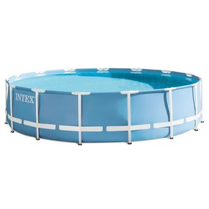 PISCINE INTEX Kit Piscine tubulaire ronde Ø4,57 x H1,07m