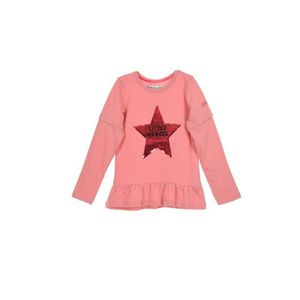 T-SHIRT LITTLE MARCEL T-Shirt Manches Longues Rose Enfant
