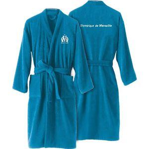 PEIGNOIR OM Peignoir adulte à col kimono  - Bleu