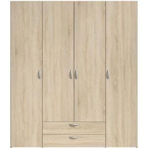 ARMOIRE DE CHAMBRE VARIA Armoire de chambre 4 portes décor chêne L 16