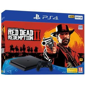 CONSOLE PS4 NOUVEAUTÉ Pack PS4 500 Go + Red Dead Redemption 2
