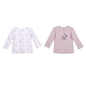 T-SHIRT MINNIE Lot de 2 T-Shirt Manches Longues Sérigraphi