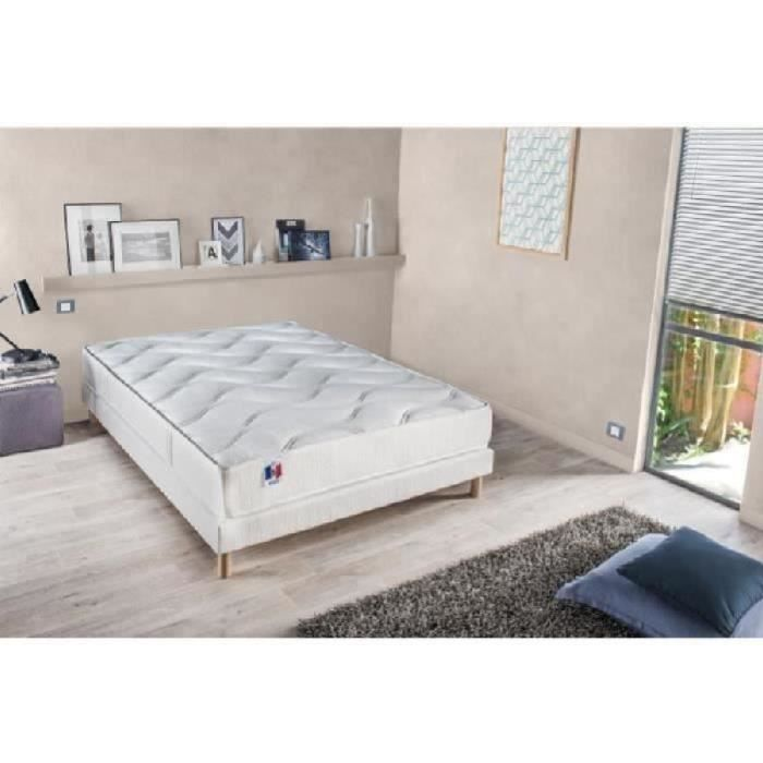 confort design ensemble matelas sommier 140x190cm 18cm 100 latex ferme 73kg m achat vente. Black Bedroom Furniture Sets. Home Design Ideas