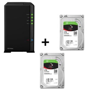 SERVEUR STOCKAGE - NAS  Pack SYNOLOGY DiskStation DS218play + 2 disques du