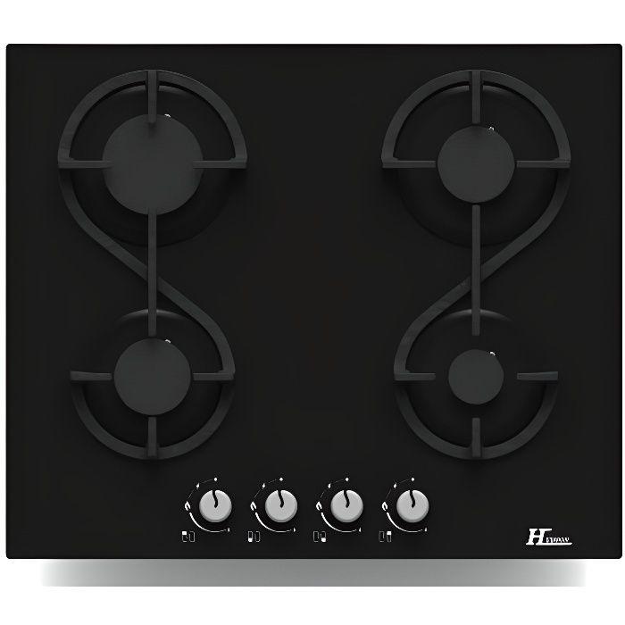 PLAQUE GAZ HUDSON HTG 4 VN -  Table de cuisson gaz - 4 foyers