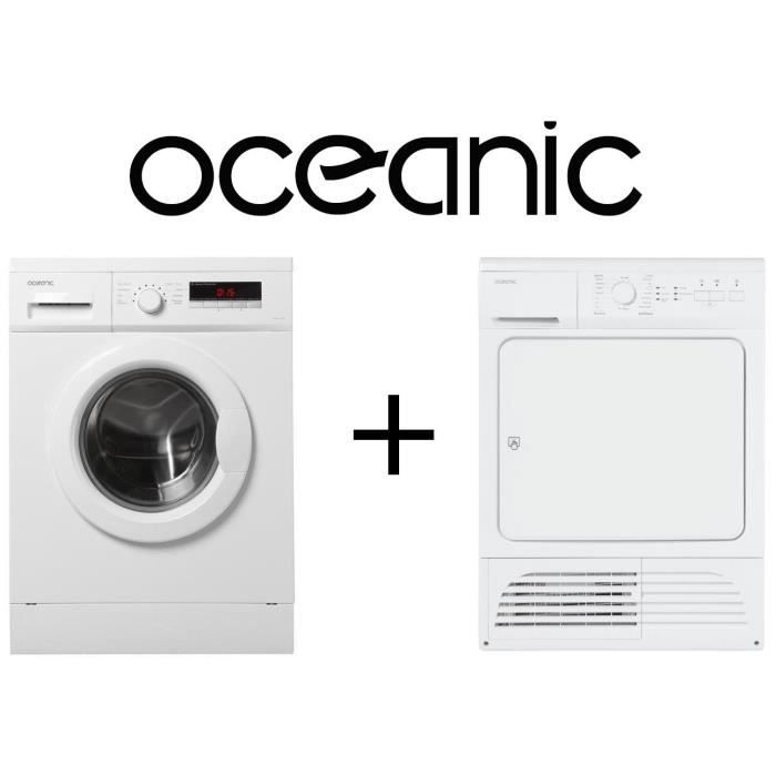 pack oceanic lave linge oceall814w2 8 kg 1400 trs min electrom nager. Black Bedroom Furniture Sets. Home Design Ideas