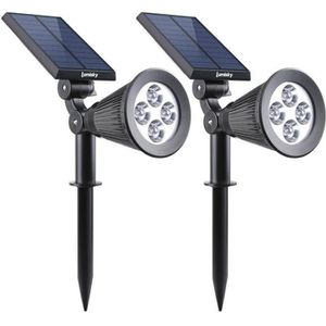 SPOT D'EXTÉRIEUR  LUMISKY Pack de 2 Spots solaires extérieur étanche