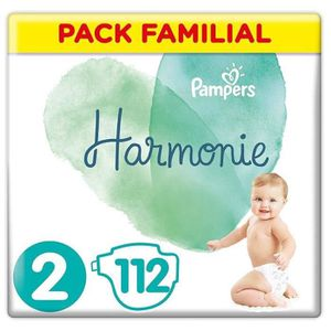 COUCHE PAMPERS Harmonie Taille2, 4-8kg, 112 Couches (2x