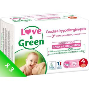 COUCHE LOVE AND GREEN Couches Pack 1 mois - Taille 4 - De