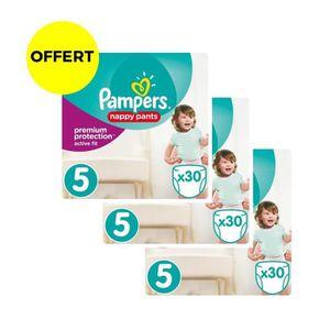 COUCHE PAMPERS ACTIVE FIT PANTS T4 X32 - lot de 3 Géants
