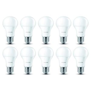 AMPOULE - LED PHILIPS EDF Lot de 10 ampoules Led E27 9W équivale
